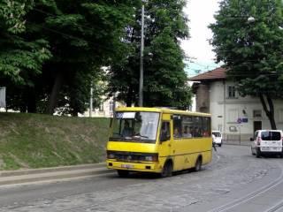 Во Львове водитель маршрутки возил людей пьяным и без прав