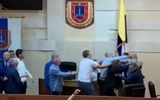 Одесские депутаты устроили эффектное побоище в президиуме облсовета