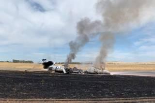 Словно свечка: в США при взлёте вспыхнул самолет