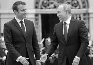О чем Эмик шушукался с Вовой. По мотивам встречи Макрона с Путиным