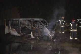 Ночью в Киеве сгорел автобус