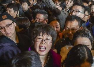 Из-за давки за халявой в Китае пострадали люди