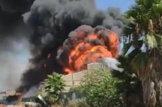 В Израиле вспыхнул маслозавод