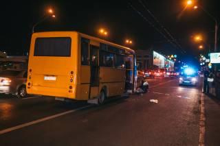 В Киеве маршрутка насмерть сбила пешехода-нарушителя