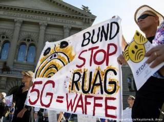 Тысячи швейцарцев вышли на простест против «принудительного облучения»