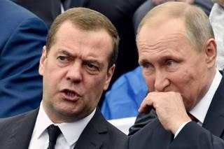В России «похоронили» Путина и Медведева