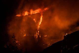 В Киеве эпично горел речной вокзал