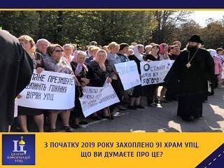 Украинцы в соцсетях заявили, что захваты храмов УПЦ – это позор для государства