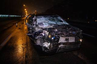 Кровавое ДТП в Киеве: автомобиль врезался в фуру