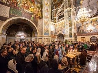 В Киево-Печерской лавре тысячи верующих УПЦ отмечают память Собора отцов Ближних пещер
