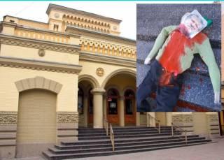 Коломойскому возле синагоги передали кровавый привет