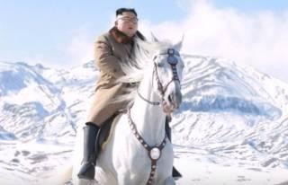 Лихой Ким Чен Ын на белом коне удивил соцсети