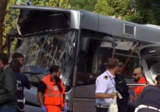 В Риме произошло крупное ДТП с автобусом: пострадали десятки людей