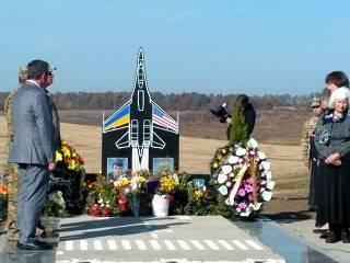На Винниччине священники УПЦ освятили памятник погибшим летчикам