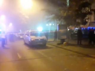 Момент взрыва гранаты на улице Пушкинской в Киеве попал на видео