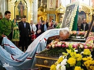 Верующие УПЦ отметили память святого, который привез из Афона камни для строительства одесского храма