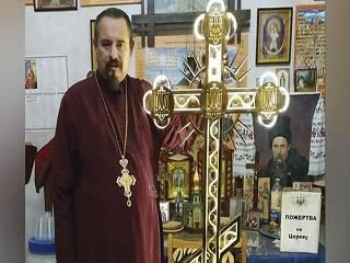 В столичном храме ПЦУ представили крест с трезубцами