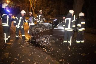 Ночное ДТП в Киеве: пострадали два парня