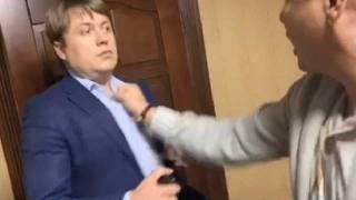 «Герус напал первым», - очевидец про драку Олега Ляшко и Андрея Геруса