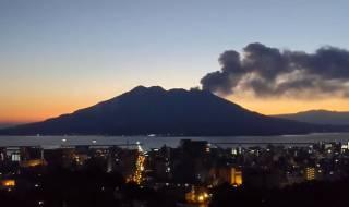 В Японии эпично извергся вулкан Сакурадзима