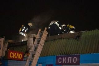 В Киеве вновь горел известный рынок