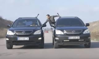 Каскадер из Одессы выполнил необычный трюк с автомобилями