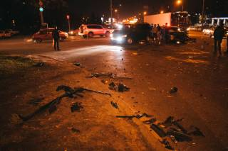 Момент кровавого ДТП в Киеве попал на видео
