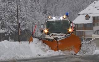 На Францию обрушился аномальный снежный шторм