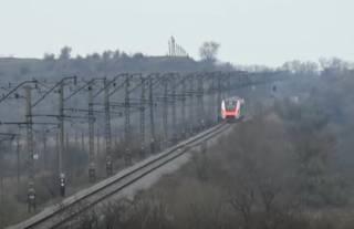 Появилось видео испытания нового украинского поезда, который будет курсировать в аэропорт «Борисполь»