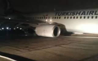 В Одессе при посадке начал разваливаться турецкий самолет с пассажирами