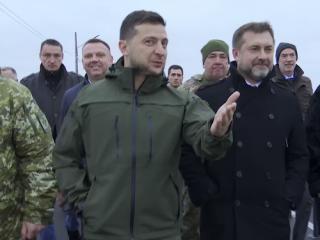 Зеленский показал, как продвигалось строительство «символа единства Украины»