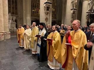 В Брюсселе Драбинко молился с представителями УГКЦ и РКЦ