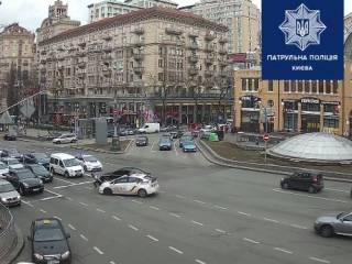 В Сети появилось видео полицейской погони в центре Киева