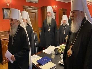 Синод УПЦ во главе с Митрополитом Онуфрием молились о пострадавших при пожаре в Одессе