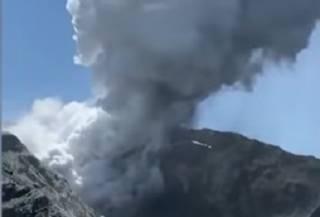 В Новой Зеландии вулкан начал извергаться прямо на глазах у ошеломленных туристов