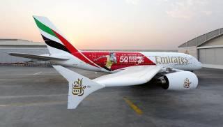 Юрий Голик: Фото регбистки из Украины попало на фюзеляж самолета компании Fly Emirates