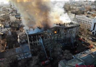 Названа официальная причина пожара в одесском колледже