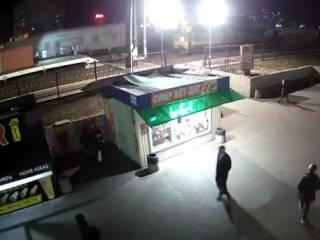 Появилось видео, как в Ирпене локомотив сбил неосторожных девушку и парня