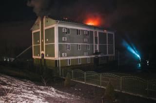 На окраине Киева горело здание религиозной секты