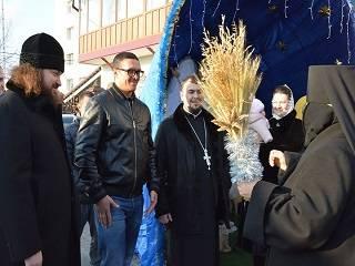 На Ровенщине Александр Усик посетил святыни и пообщался с верующими УПЦ