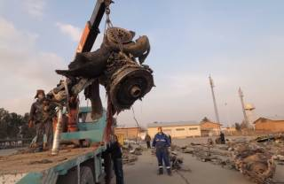 ГСЧС опубликовала жуткие кадры с места крушения самолета МАУ в Иране