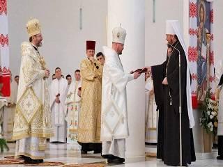 Драбинко подарил епископу УГКЦ панагию Митрополита Владимира (Сабодана)
