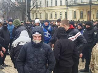 На Михайловской площади радикалы попытались силой разогнать митинг антифашистов