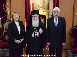 Президент Греции ждет от Иерусалимского Патриарха, что он поддержит Варфоломея