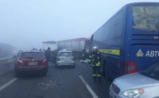 11 автомобилей попали в ДТП на Одесчине
