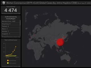 В Сети появилась интерактивная карта распространения смертоносного вируса из Китая