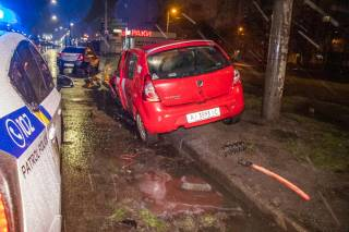Ночью в Киеве такси развалилось прямо на ходу