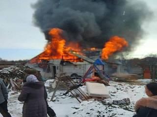 Сгорел дом у священника УПЦ – 12 детей без крова