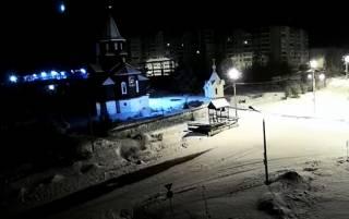 В России сняли падение метеорита