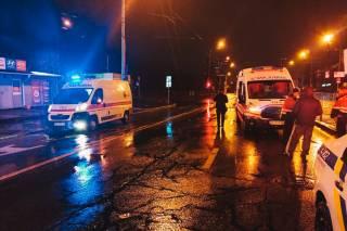 Ночью в Киеве произошло ДТП с машиной «скорой помощи»